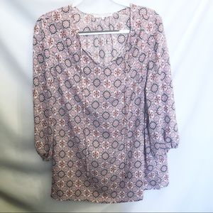 Violet & Claire Mosaic Tunic Style Blouse